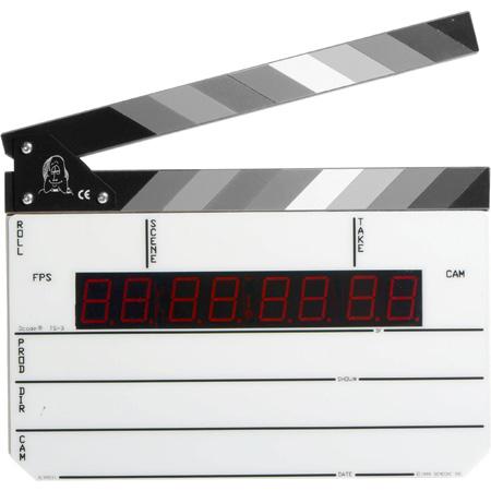 Denecke TS-3BW Time Code Slate with Black & White Sticks (Non-Backlit)