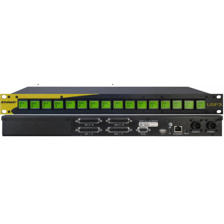 DNF USP3-16 Universal Switch Panel with 16 LCD Push Buttons - 1 RU