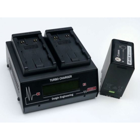 Dolgin TC200-CAN-A60-I Fast Two Positions Simultaneous Battery Charger with Diagnostics Display Accepts Canon BP-A60/A30