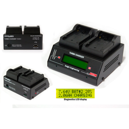 Dolgin TC200-CAN-i-TDM Two-Position Charger with TDM for Canon BP-900 Series