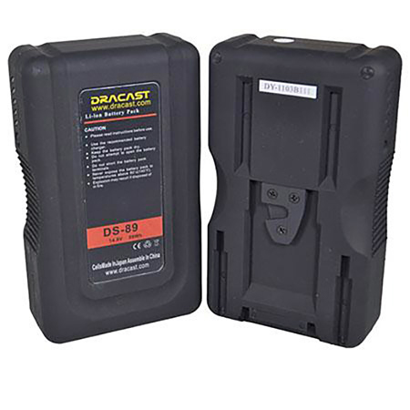 Dracast BA-95AI 95Wh Gold Mount Self Charging Battery W/ Built In USB Port