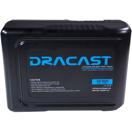 Dracast DRBA90SC 90WH 14.8V COMPACT V-MOUNT LI-ION BATTERY