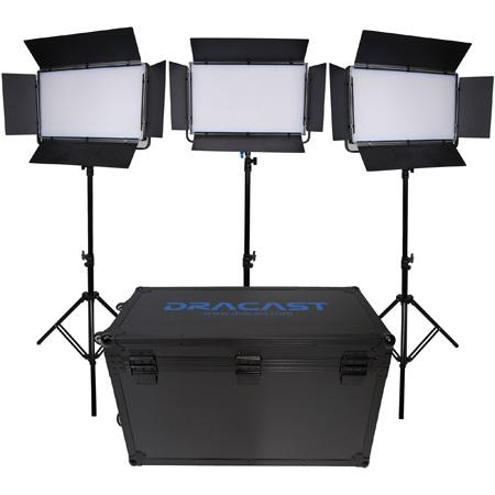 Dracast DRK2000B3K LED2000 Kala Bi-Color LED 3-Light Kit