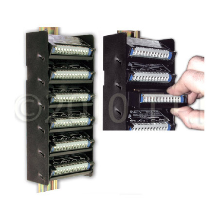 RDL DRA-35S6 STICK-ON DIN Rail Adapter - 6 Modules