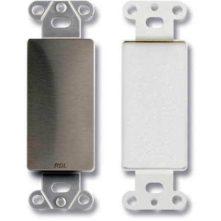 RDL DS-Blank Decora Wall Plate with No Jack Cut Out