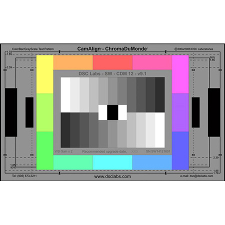 DSC Labs SW16-CDM12 ChromaDuMonde 12 Video Test Chart - Standard 21.3 x 13 Inches