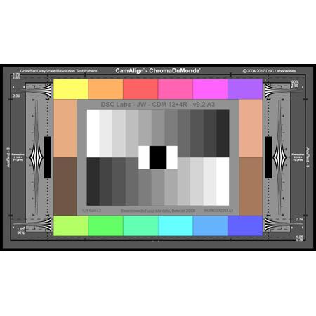 DSC Labs SRW22-CDM124R ChromaDuMonde 12-Plus-4 with Resolution CamAlign Chip Chart  - Senior 24 x 14.7