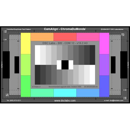 DSC Labs JW16-CDM12 ChromaDuMonde12 Camera Color Calibration Chart - Junior 17 x 10