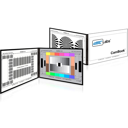 DSC Labs CK CamBook - 12-Plus-4 Colors & 11 Steps Grayscales / MultiBurst / BackFocus - 12 x 8 Inches