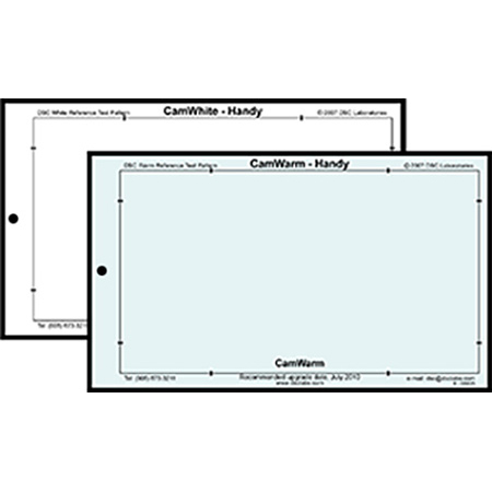 DSC Labs HWW Handy White-N-Warm Card - Neutral White and Warm / Lanyard and Pouch - 10 x 6 Inches
