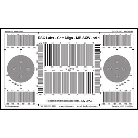 DSC Labs SRW5-MB MultiBurst Test Chart - Senior 24 x 14.7