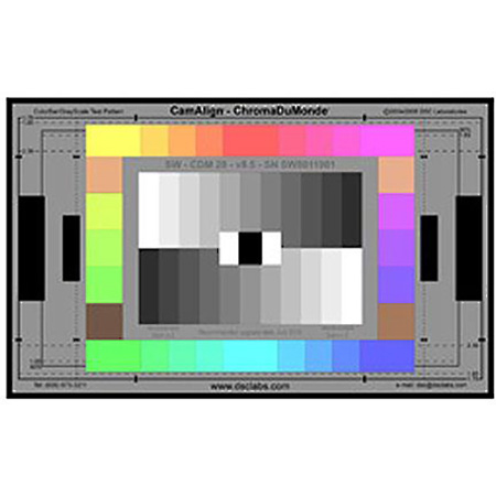 DSC XW19-CDM28 ChromaDuMonde 28 Maxi CamAlign Chip Chart - Includes Metal Mounting Framing MaxiTilt Mounting Post