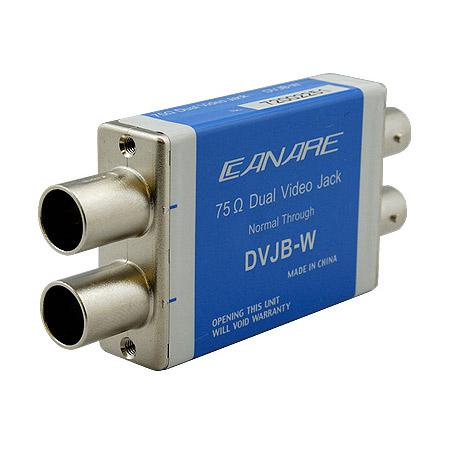 Canare DVJB-W Normal Standard Size Dual Video Jack