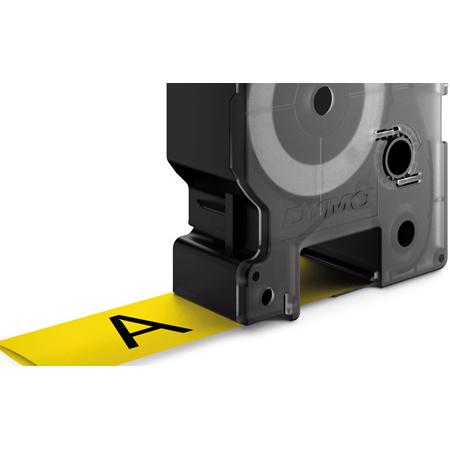 Dymo 1805444 IND Heat-Shrink Tube 1 Inch Black/Yellow