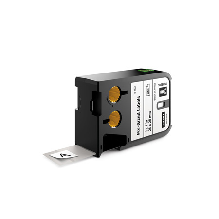 Dymo 1868668 XTL 1-Inch x1-Inch (25 mm x 25 mm) Pre-Sized Label - Black on White