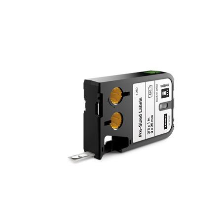 Dymo 1868669 XTL 3/8-Inch X 1-Inch (9 mm x 25 mm) Pre-Sized Label - Black on White