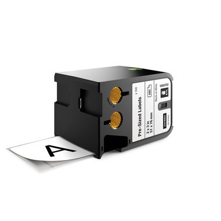 Dymo 1868703 XTL 2-Inch x 3-Inch (51 mm x 76 mm) Pre-Sized Label - Black on White