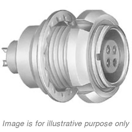 Lemo EEJ.2B.306.CLA Chassis Mount Circular Push-Pull Connector Receptacle - Male 6 Pin