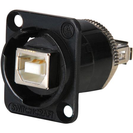 Switchcraft EHUSBBABX USB-B to USB-A Feedthru - Black