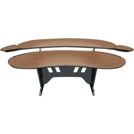 Mid-Atlantic 84 Inch Desk with Overbridge (Dark Cherry)