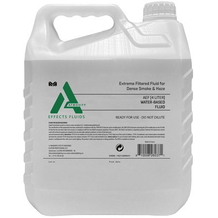 Elation Professional AEF-4L Atmosity Extreme Filtrated Fog Fluid - 4 Liters