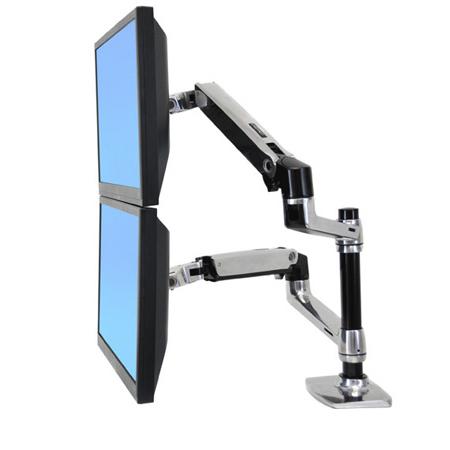 Ergotron 45-248-026 LX Dual Stacking Arm - Mounting Kit