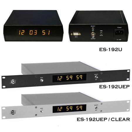 ES-192U Master Clock (6-Digit 12 Hour)