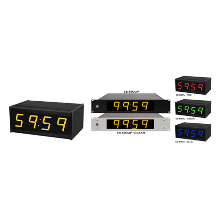 ESE ES 590U/D-RED 60 Minute Up Timer with Remote Control via 6 ft Cable/ Connector/ Switch Plate. Red LED Display