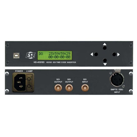 ESE HD-455/SD/1 HD & SD SMPTE Time Code Reader/Video Inserter