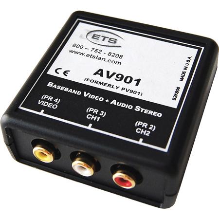ETS AV901 Baseband RCA Video and RCA Stereo Audio AV Over CAT5 Balun
