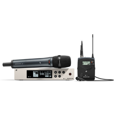 Sennheiser EW 100 G4-ME2/835-S-A Wireless Lavalier/Vocal Combo Set with SKM 100 G4-S Handheld Mic (516 - 588 MHz)