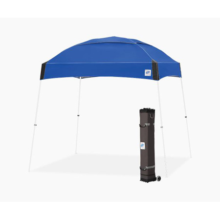 E-Z Up DM3WH10RB Dome Shelter 10x10 Foot White Frame with Royal Blue Top