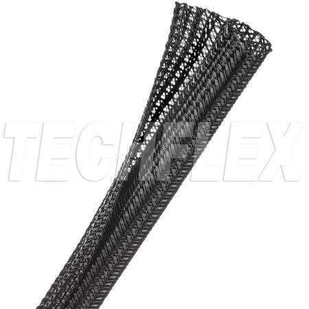 TechFlex F6N0.50BK 1/2 Inch F6-Self Wrap Sleeving - Black - 150 Foot