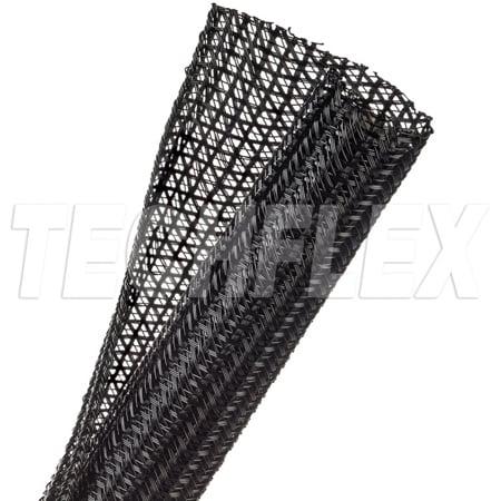 TechFlex F6N1.00BK 1 Inch F6 Self Wrap Sleeving - Black - 100 Foot