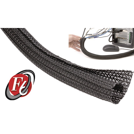 TechFlex - 1 Inch F6-Self Wrap Sleeving Black 50ft