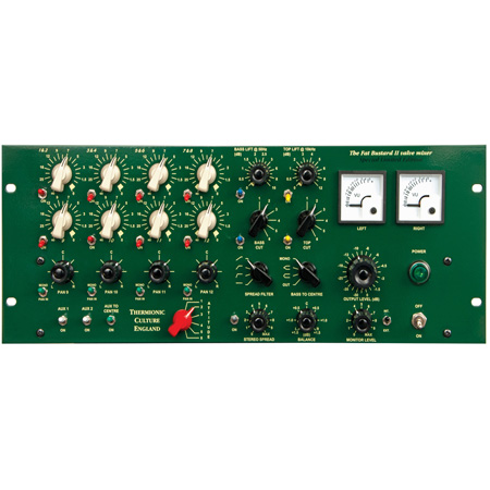 Thermionic Culture FAT BUSTARD II LE TX Limited Edition 12-Ch Summing Mixer w/ EQ & Transmitter/Balanced Outputs - Green