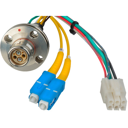 Canare FCS015A-FR Hybrid Fiber Optic Receptacle Cable SMPTE/ARIB- Female 1.5m