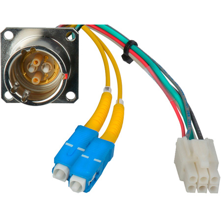 Canare FCS015A-MR Hybrid Fiber Optic Receptacle Cable SMPTE/ARIB- Male