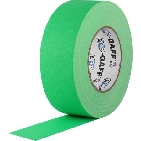Pro Tapes 001UPCG250MFLGRN Pro Gaff Gaffers Tape FGGT-50 2 Inch x 50 Yards - Digital Key Green