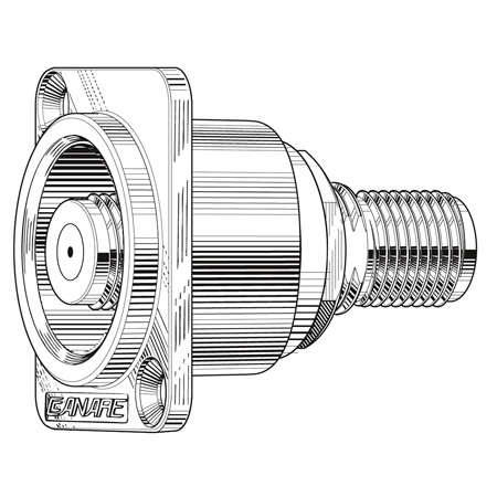 Canare FJ-JRUD F Connector D-Hole Chassis Mount Barrel - Nickel