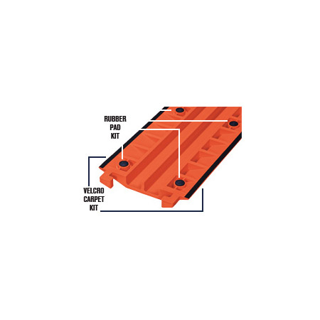Checkers FL2X1.75-O Fastlane Drop Over Protector - 2 Channel 3 Foot - Orange