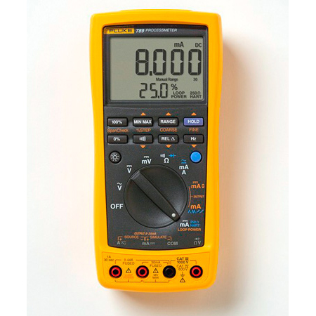 FlukeTrue RMS Multimeter with Backlight Display and Temperature
