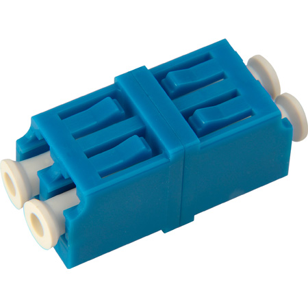 LC to LC Single Mode Duplex Fiber Optic Coupler Adapter Zirconia Sleeve- 25 Pack