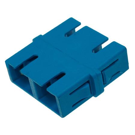 SC to SC Single Mode Duplex Fiber Optic Coupler Adapter - Flangeless- 25 Pack