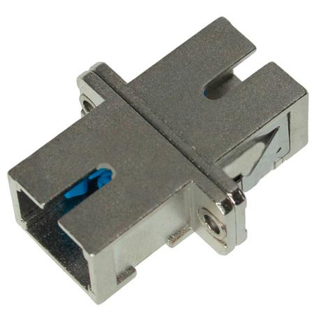 SC to SC Fiber Adapter Simplex Single Mode with Zirconia Sleeve & Metal Flange