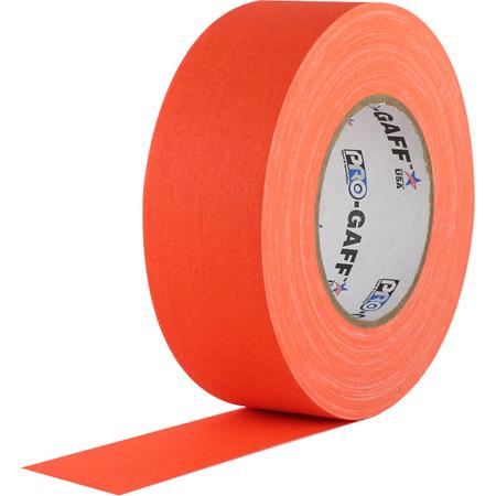 Pro Tapes FOGT-50 Pro Gaff Gaffers - 50 2 Inch x 50 Yards - Fluorescent Orange
