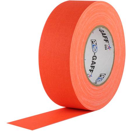 Pro Tapes 001UPCG150MFLORA Pro Gaff Gaffers Tape FOGT1-50 1 Inch x 50 Yards - Fluorescent Orange