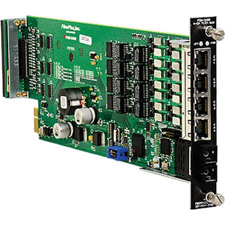 Fiberplex FOM-5400-T5B Isolator Multiplexer for 4 T/E Carrier DS0 to E2 Rates - ISDN PRI - Singlemode ST Optics