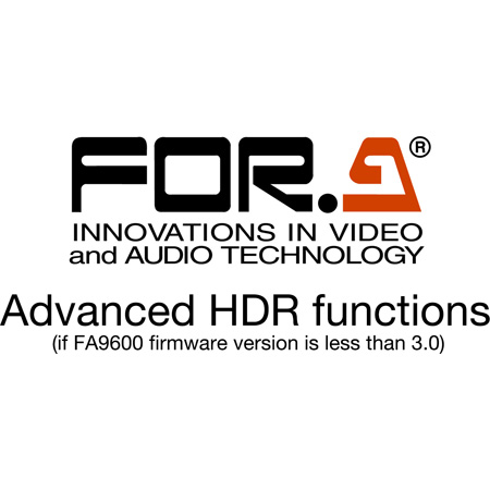 FOR-A FA-96AHDR Advanced Function Software for HDR (Download)