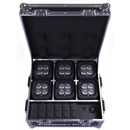 Chauvet FREEDOMFLEXH4IPX6 Freedom Flex H4 IP Kit with 6 Lights / 6 Batteries & Charging Case